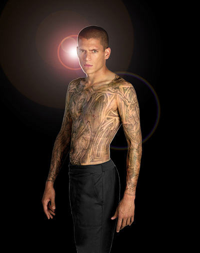 Wentworth Miller's Prison Break tattoos. The